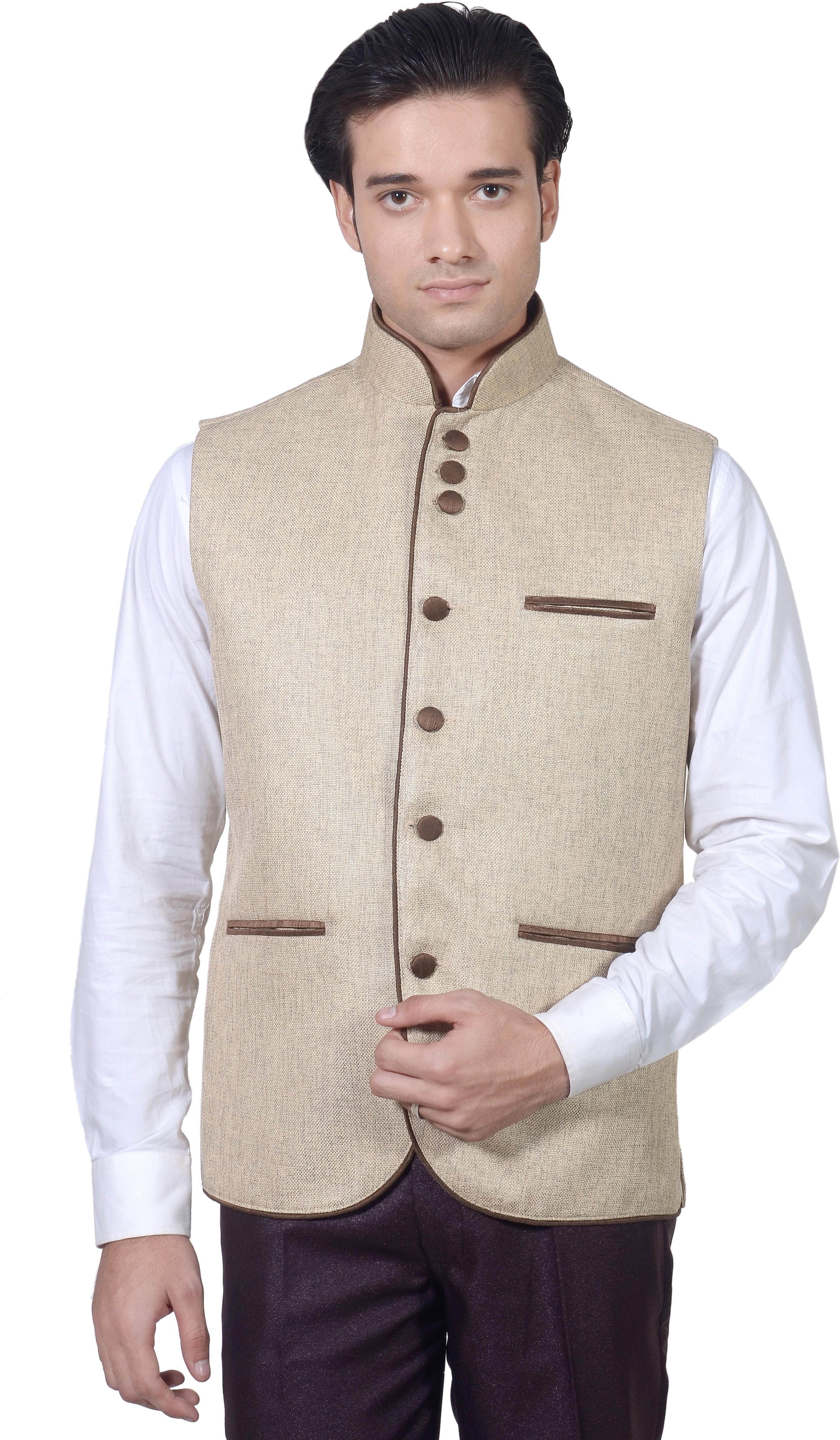 Amafhh Sleeveless Solid Men's Nehru Jacket - Knit Wear