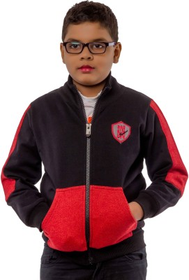 Bobjunior Full Sleeve Solid Boy's Jacket