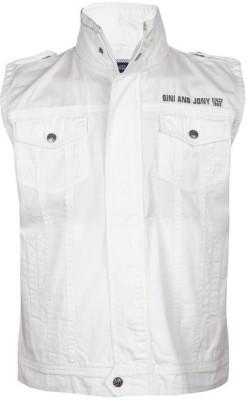 Gini & Jony Sleeveless Solid Boy's Jacket