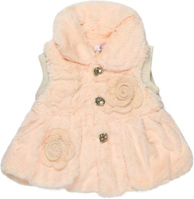 Baby Moshai Sleeveless Solid Girl's Jacket