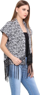 Desi Urban Sleeveless Self Design Women,s Jacket