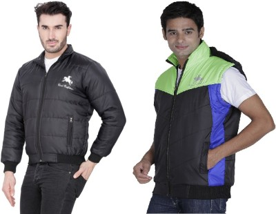 Civil Outfitters Full Sleeve, Sleeveless Solid Men's Jacket