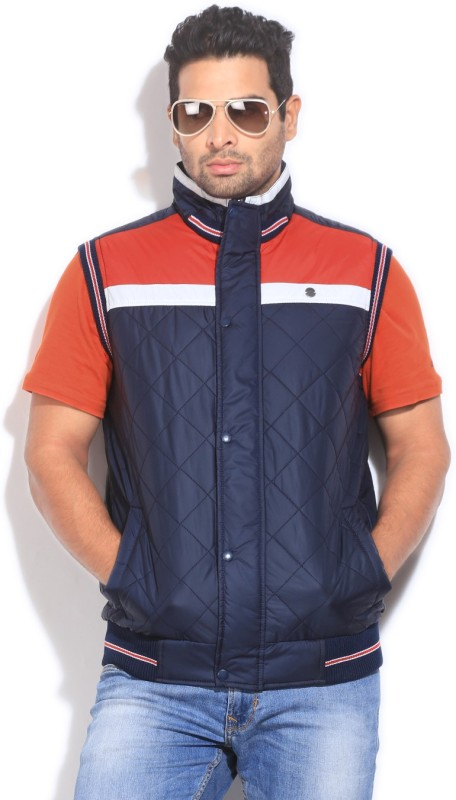 Peter England Sleeveless Solid Men's Quilted Jacket