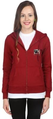 Campus Sutra Full Sleeve Solid Women's Fleece Jacket