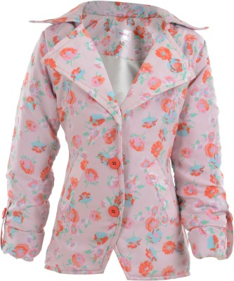 Toddla Full Sleeve Floral Print Girl's Jacket