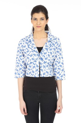Doya Milan 3/4 Sleeve Polka Print Women's Jacket