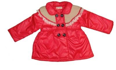Bodingo Full Sleeve Polka Print Girl's Jacket