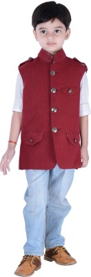 Couture Studio Sleeveless Solid Boy,s Jacket
