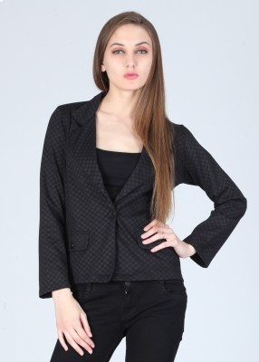 AND Full Sleeve Checkered Women's Jacket