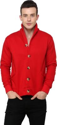 Casual Tees Full Sleeve Solid Mens Fleece Coat Jacket