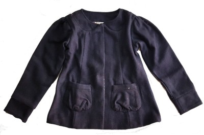 Textures Fashion Full Sleeve Solid Girl's Jacket