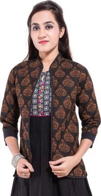 Albelishop 3/4 Sleeve Printed Women,s Jacket