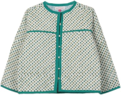 My Little Lambs Full Sleeve Printed Girl's Quilted Jacket