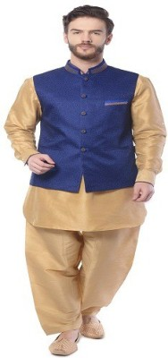 Mohanlal Sons 3/4 Sleeve Self Design Men's Jacket