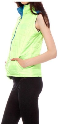 Winter Jackit Sleeveless Self Design Women's Jacket