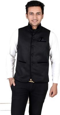 Dunley Lewis Sleeveless Solid Men's Jacket