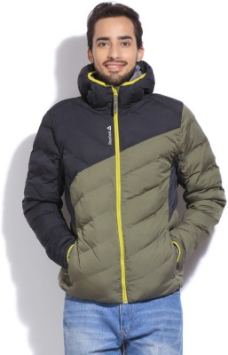 Reebok Full Sleeve Striped Men's Quilted Jacket