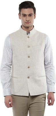 GIVO Sleeveless Solid Men's Linen Jacket