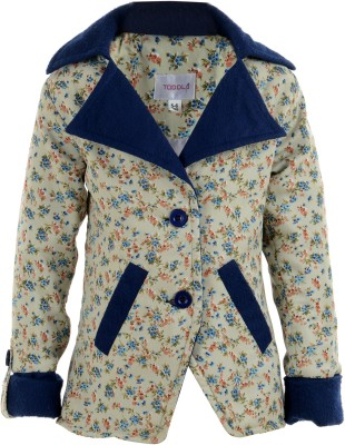 Toddla Full Sleeve Printed Girl's Jacket
