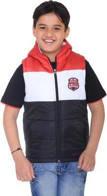 Kids-17 Sleeveless Solid Boy's Jacket