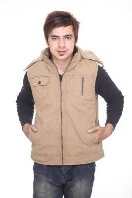 Trufit Sleeveless Solid Men,s Bomber Jacket