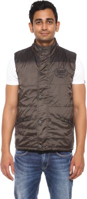 Spykar Sleeveless Solid Men's Jacket
