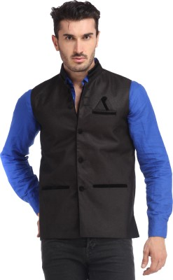 Gudluk Sleeveless Solid Men's Jacket