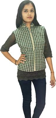 Doya Milan Sleeveless Checkered Women's Jacket