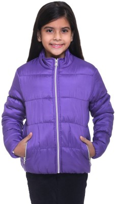 Kids-17 Full Sleeve Solid Girls Jacket
