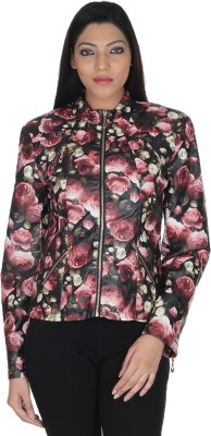 Square Full Sleeve Floral Print Women's Jacket