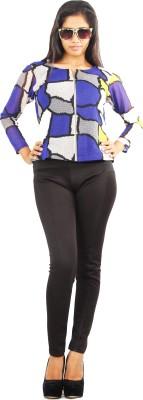 Aggana Full Sleeve Geometric Print Women's Jacket