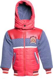 Kangaroo Kids Full Sleeve Self Design Boys Jacket
