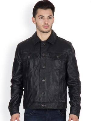 JUSTANNED Full Sleeve Solid Men's Leather Jacket