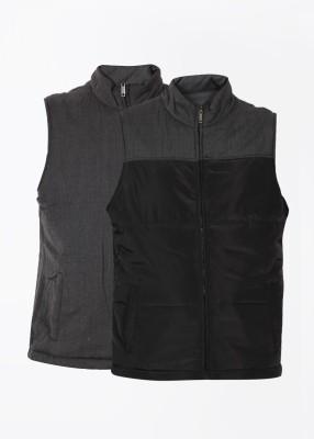 Arrow Sleeveless Self Design Men's Jacket