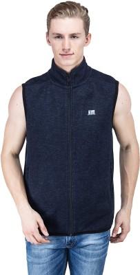 T10 Sports Sleeveless Self Design Men's Sleeveless Jacket
