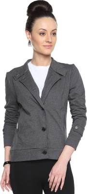 Campus Sutra Full Sleeve Solid Women's Jacket Jacket