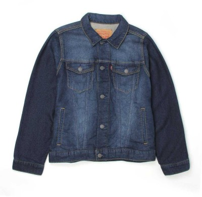 Levi's Full Sleeve Solid Boy's Denim Jacket