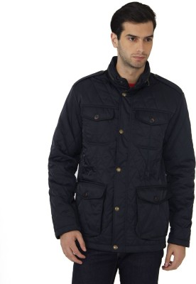 Fahrenheit Full Sleeve Self Design Men's Quilted Jacket