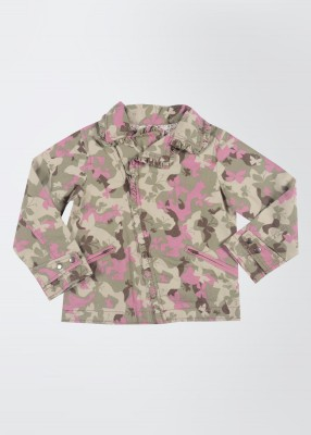 Nauti Nati Full Sleeve Printed Girl's Jacket