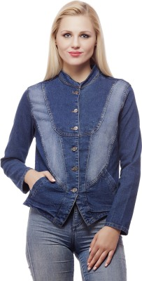 99 Affair Full Sleeve Self Design Womens Denim Jacket