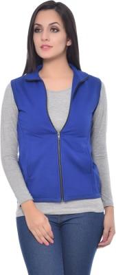 Frenchtrendz Sleeveless Solid Women's Jacket