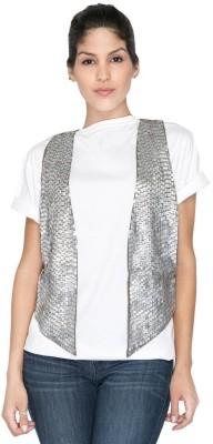 Aaliya Sleeveless Self Design Women's Waistcoat Jacket