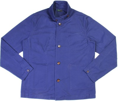 United Colors of Benetton Full Sleeve Solid Mens Denim Jacket