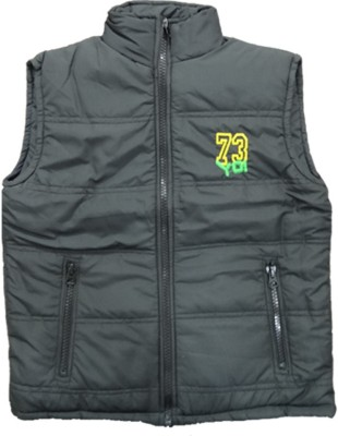 Alfa Sleeveless Solid Boys Quilted Jacket
