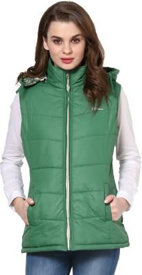 Okane Sleeveless Self Design Women's Self Design Jacket Jacket at flipkart