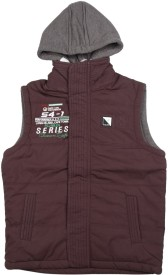 Fort Collins Sleeveless Solid Boys Jacket