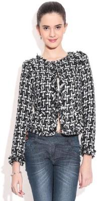 Remanika 3/4 Sleeve Self Design Women's Quilted Jacket