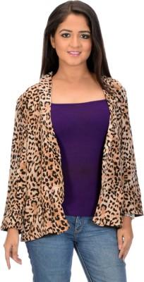 BrandTrendz Full Sleeve Animal Print Women's Jacket