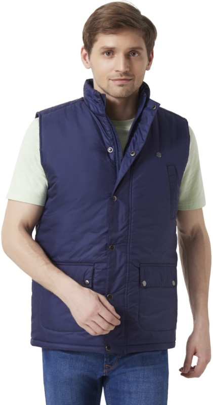 Peter England Sleeveless Solid Men's Jacket
