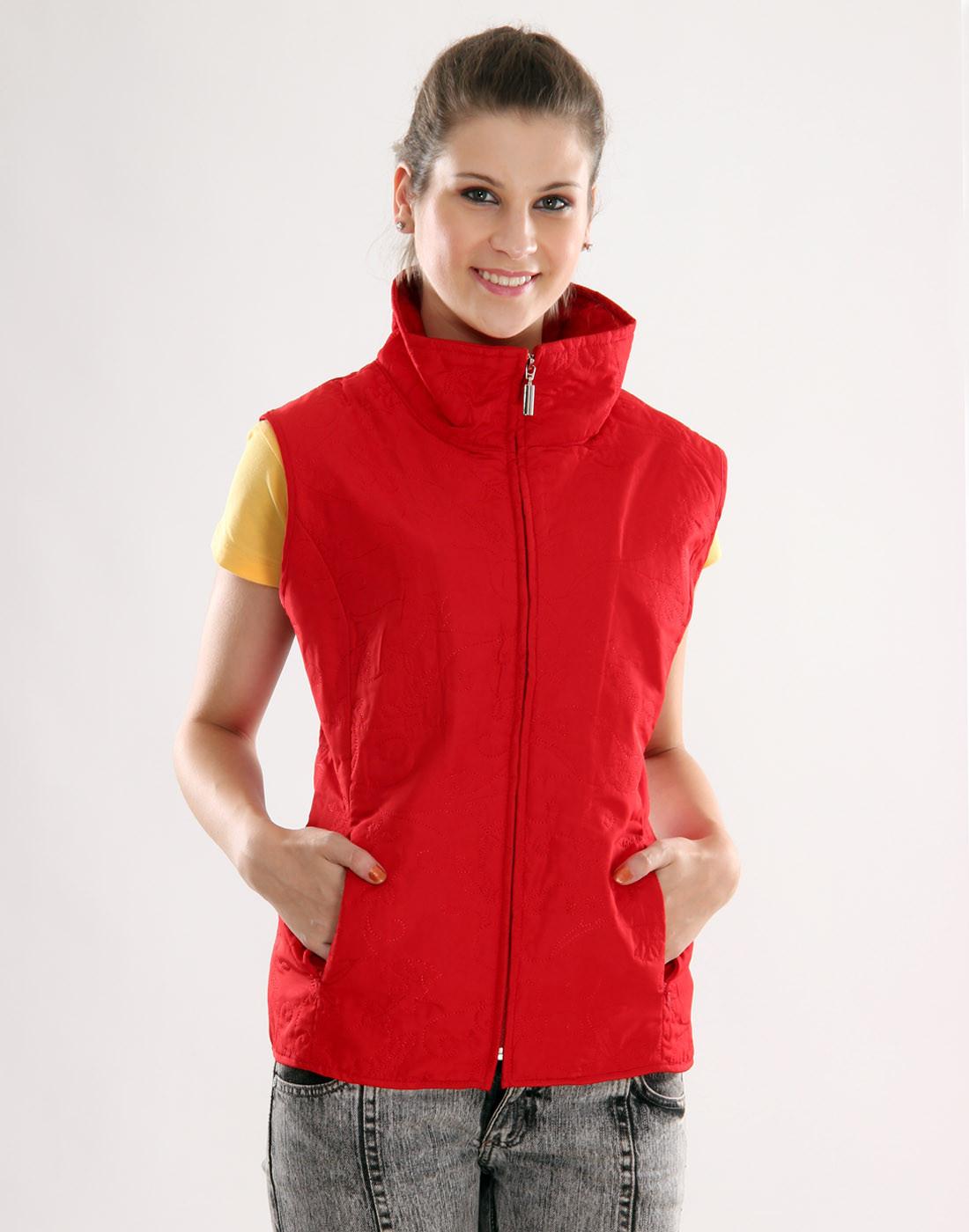 Sportelle USA India Sleeveless Solid Womens Jacket